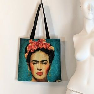 Frida Kahlo Reusable Shopping Tote Market Bag NWOT